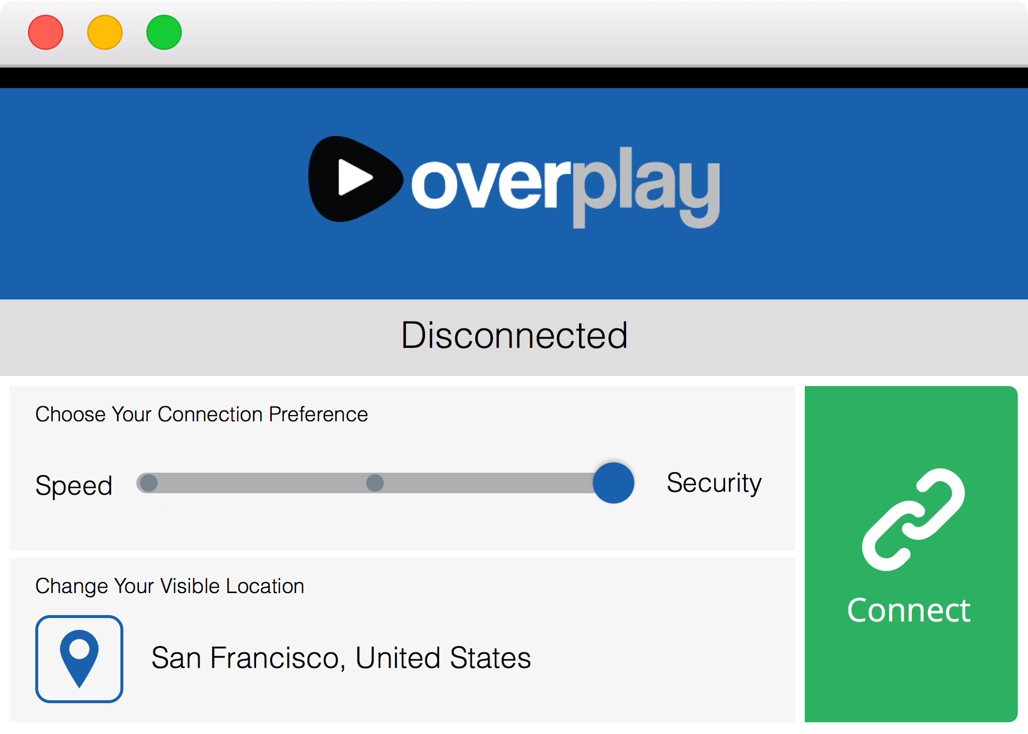 OverPlay VPN for Macintosh