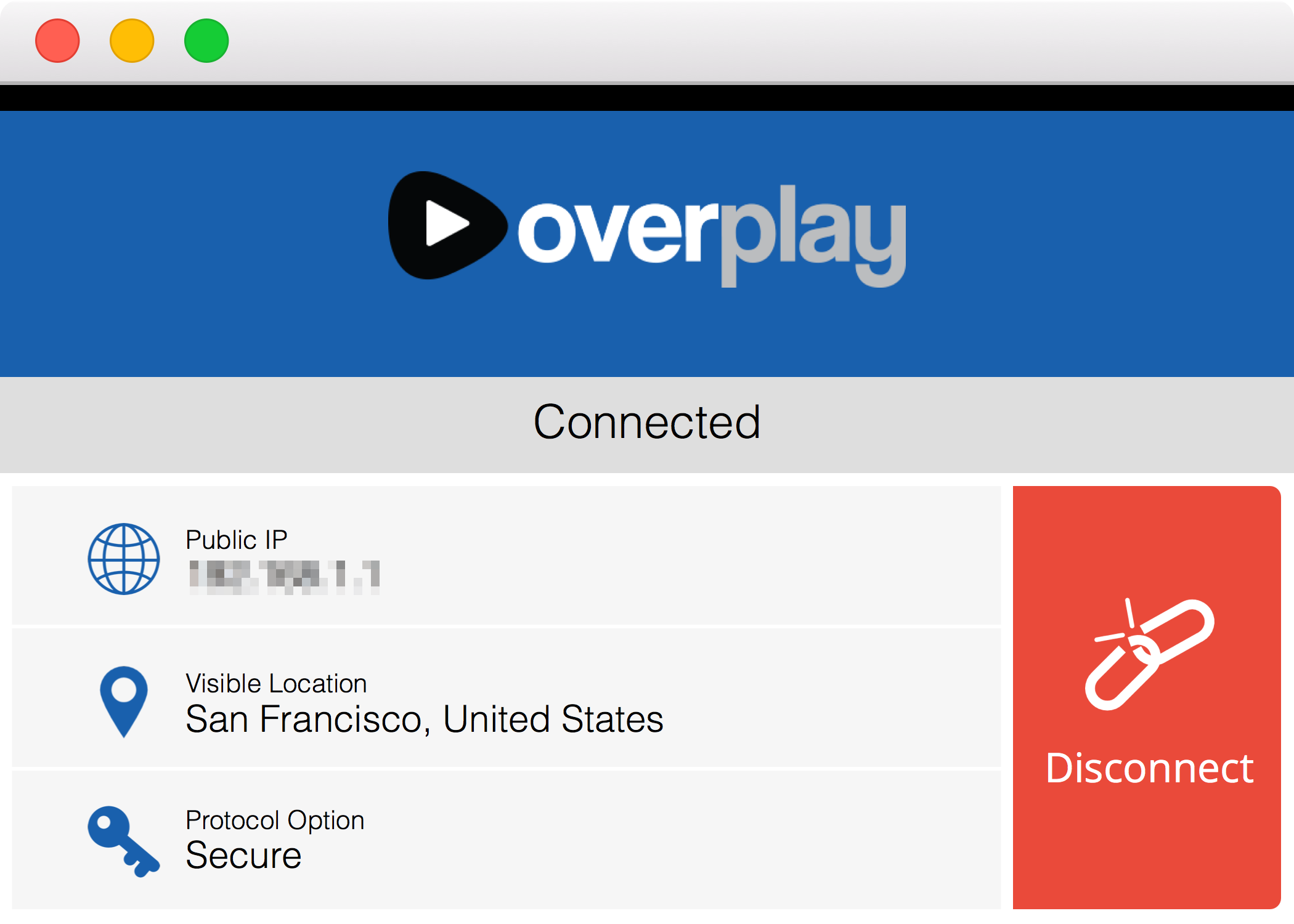 OverPlay VPN for OS X