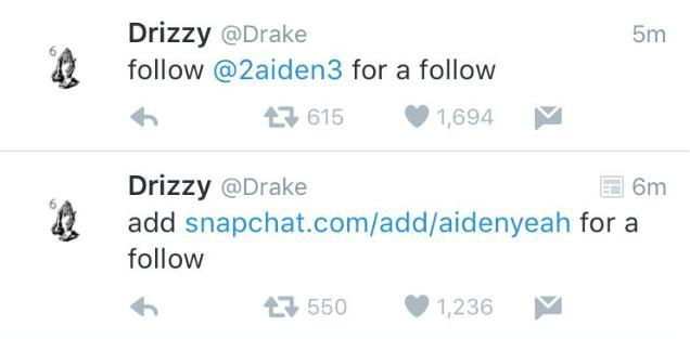 Drake Twitter Hacked